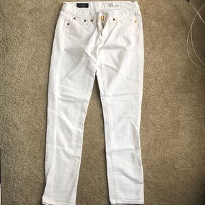 JCREW Toothpick white pants 26
